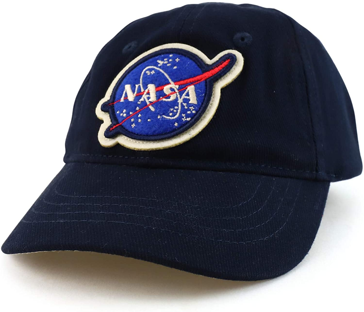 Armycrew Officially Licensed Toddler to Youth NASA Insignia 100% Cotton Baseball Cap