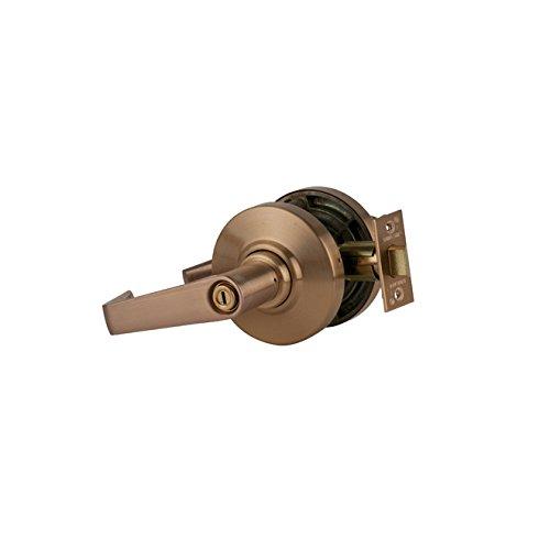 Schlage Commercial AL40SAT612 AL Series Grade 2 Cylindrical Lock, Privacy Function, Saturn Lever Design, Satin Bronze Finish