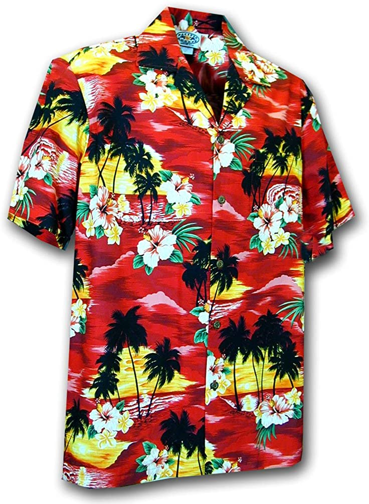Waikiki Sunset Boys Hawaiian Aloha Shirt