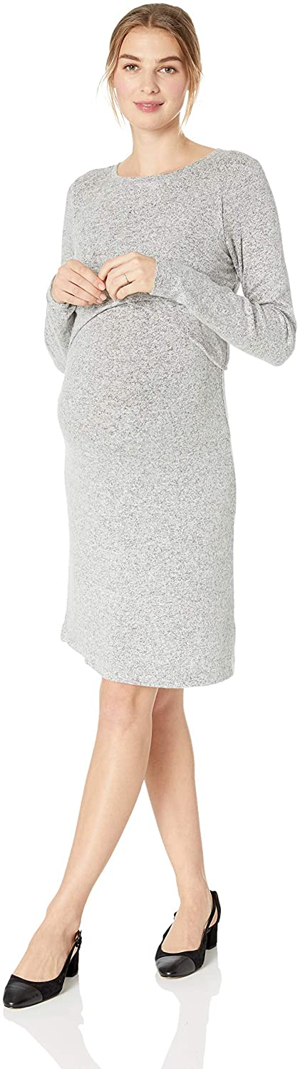 Motherhood Maternity Women's Maternity Brushed Hacci Lift Up Nursing Dress