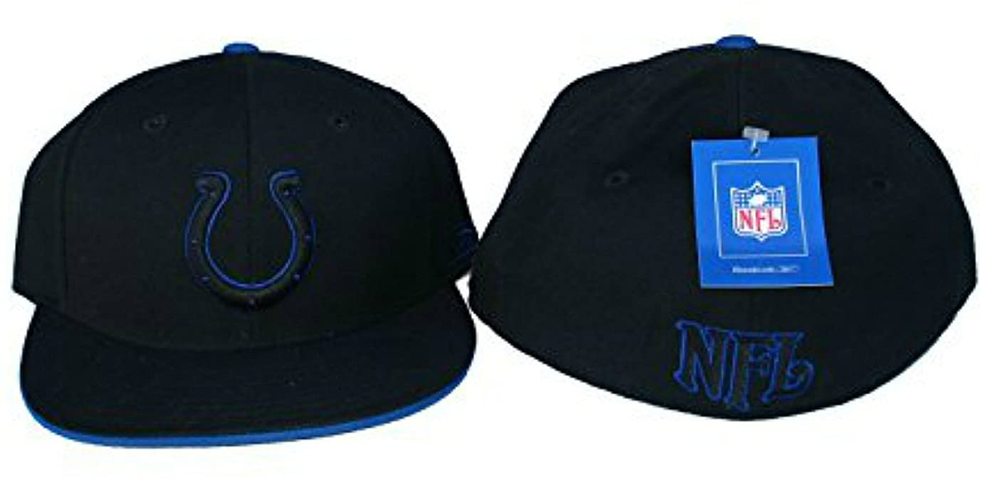 Genuine Merchandise Indianapolis Colts Fitted Size 7 3/8 Hat Cap Black & Blue