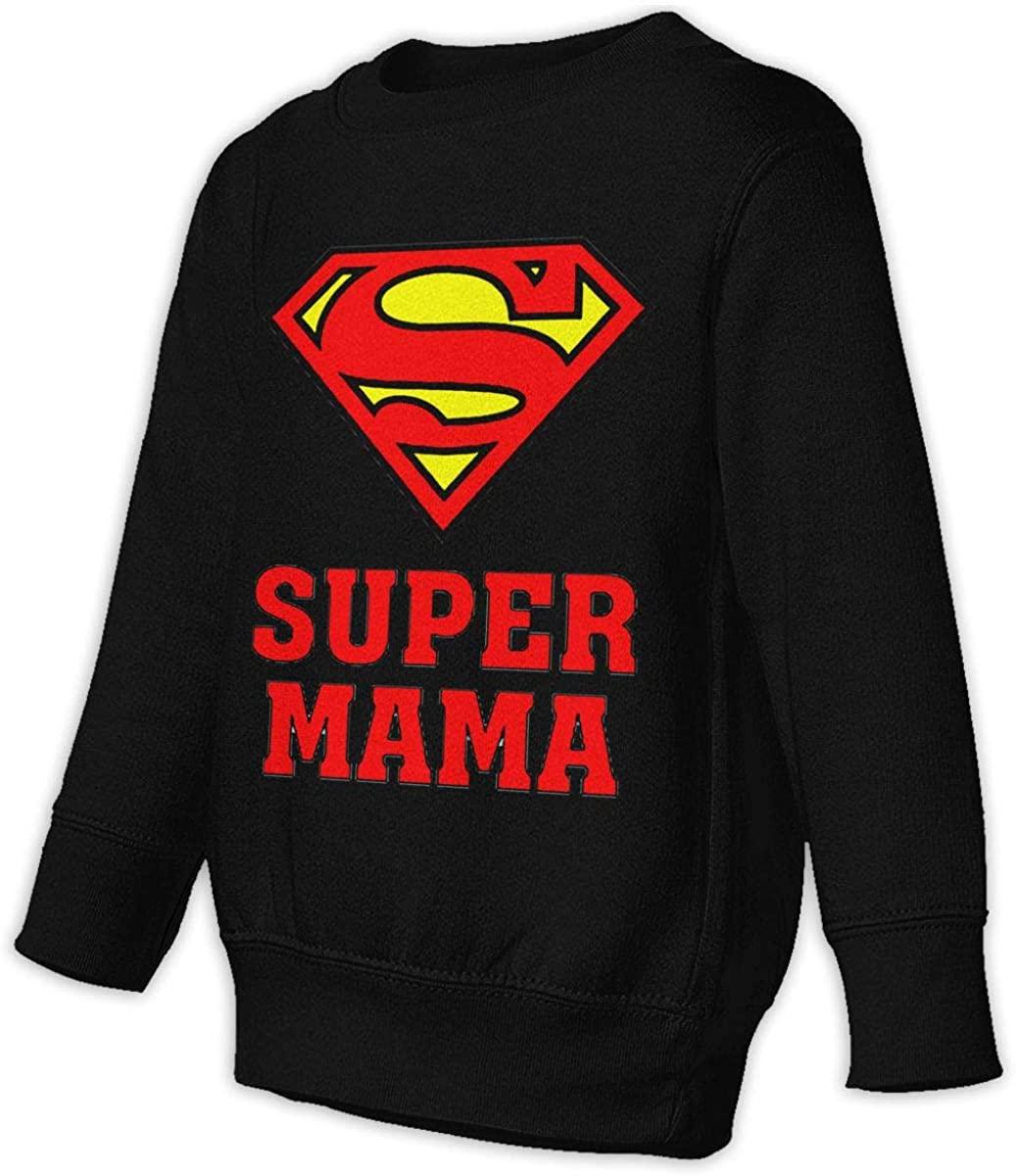1836 Super Mama Unisex Sweatshirt Youth Boy and Girls Pullover Sweatshirt
