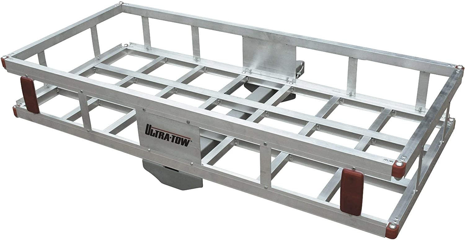 Ultra-Tow Aluminum Hitch Cargo Carrier - 500-Lb. Capacity, Silver, 49in. x 22.5in. x 8in.H