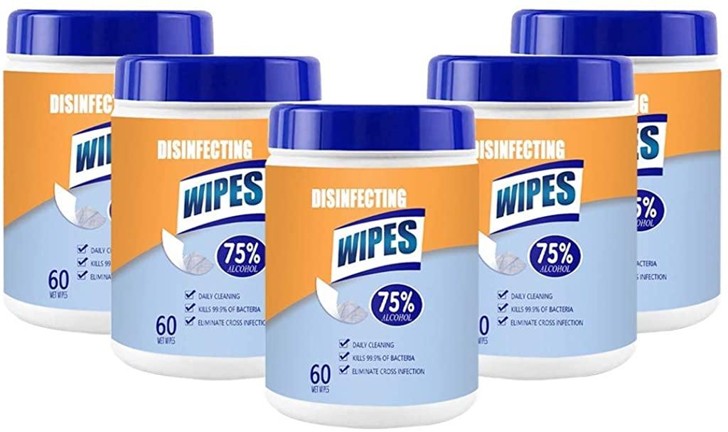 Sunnyys 𝐃isiñfect 𝐖ipès 75% Alc0h0l 𝐀ntisèptic Cleaning 𝐖èt 𝐖ipès Hand 𝐃isiñfecting 𝐖ipès Portable 60 Sheets per Barrels
