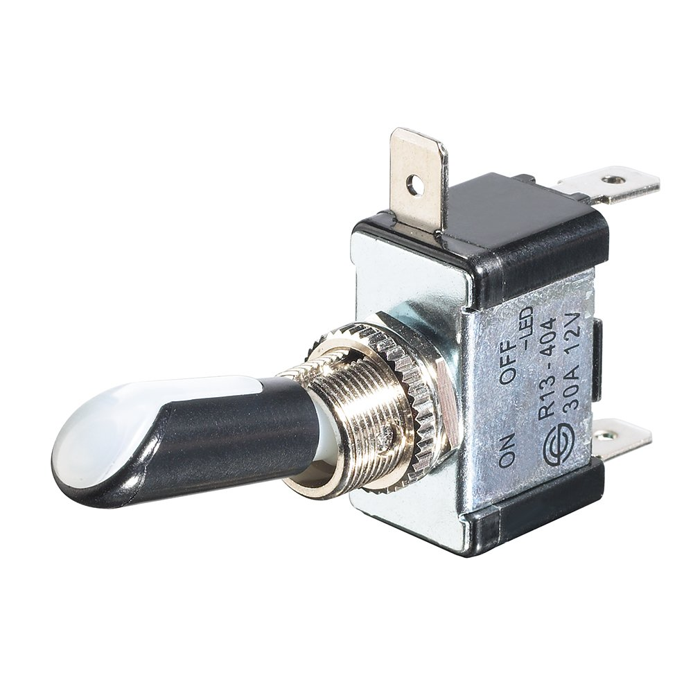 SPST 12VDC/30A Illuminated Toggle Switch with Red/Green LED