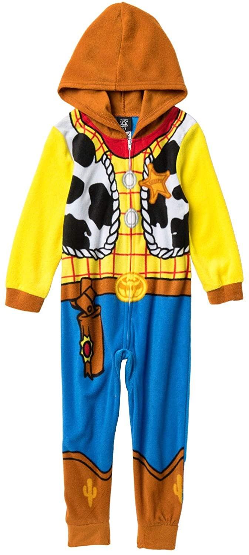 Disney Toy Story Sheriff Woody Boys Costume Pajama Costume Hooded Union Suit