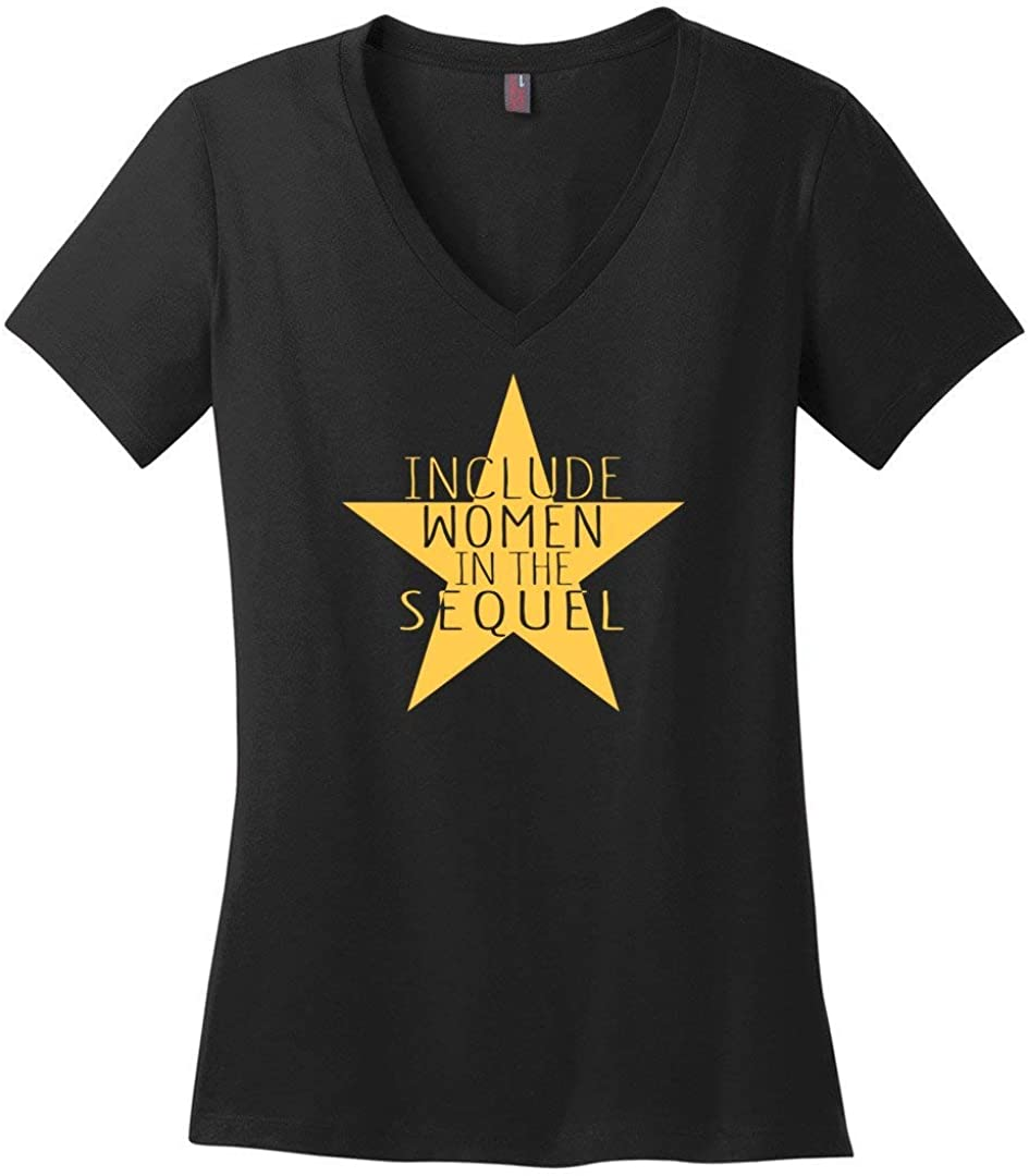 Include Women in The Sequel Hamilton Ladies V-Neck T-Shirt