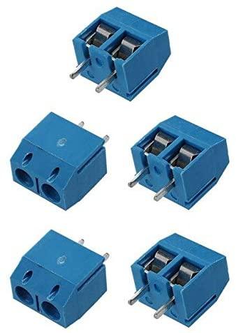 Davitu Terminals - ELEG-5 x 2 Pin 5.08mm PCB Universal Screw Terminal Block Connector 300V 16A - (Color: Blue)