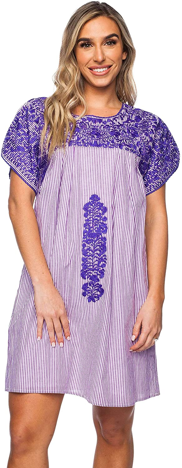 BuddyLove Women's Alessandra Short Sleeved Embroidered Mini Dress Collection
