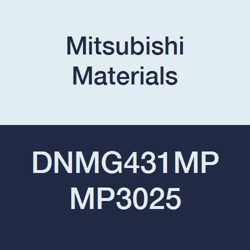 Mitsubishi Materials DNMG431MP MP3025 Coated Cermet DN Type Negative Turning Insert with Hole, Rhombic 55°, 0.5