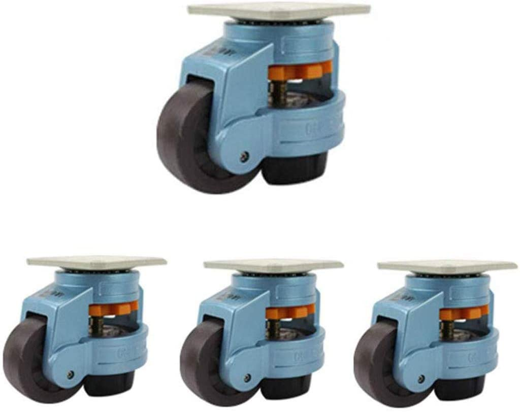 Industrial Casters,GD-40F/60F/80F - Horizontal Adjustment Leveling - Heavy Duty Adjustable,Suitable Equipment - 5 Colors(4pack) / Blue / 120F
