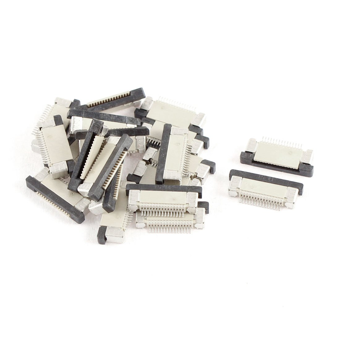 uxcell Bottom Port 15Pin 0.5 mm Pitch Ffc Fpc Ribbon Sockets Connector 20Pcs