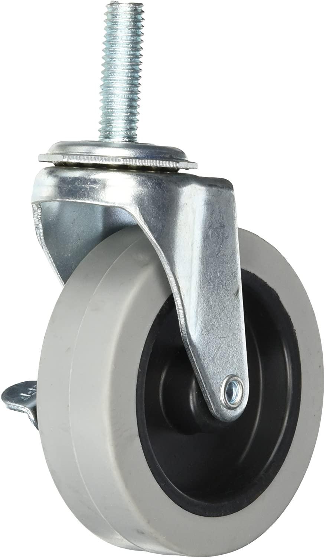 Quantum Storage Systems WR-3 4 Piece 3 Diameter Polyurethane Wheel Swivel Caster Set with Brakes, 200 lbs Capacity