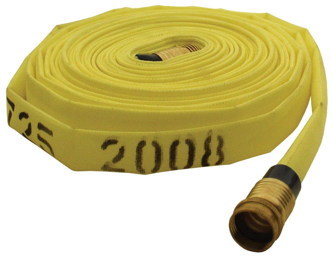 Dixon NF615100RAQT Non-Weeping Forestry Hose, Yellow, Coupled 1/4 Turn Coupling, 1-1/2