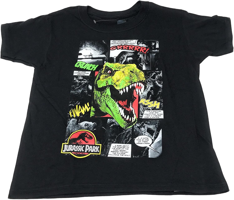 Jurassic Park. Boys' Graphic T-Shirt (Multicolored, XL 14/16)