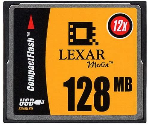 Lexar Media High Speed 128MB 12x CompactFlash CF Flash Memory Card