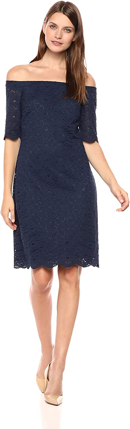 DHgate Brand - Lark & Ro Women's Half Sleeve Lace Off the Shoulder Sheath Dress