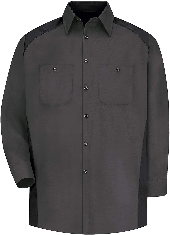 Red Kap Men's Long Sleeve Motorsports Shirt
