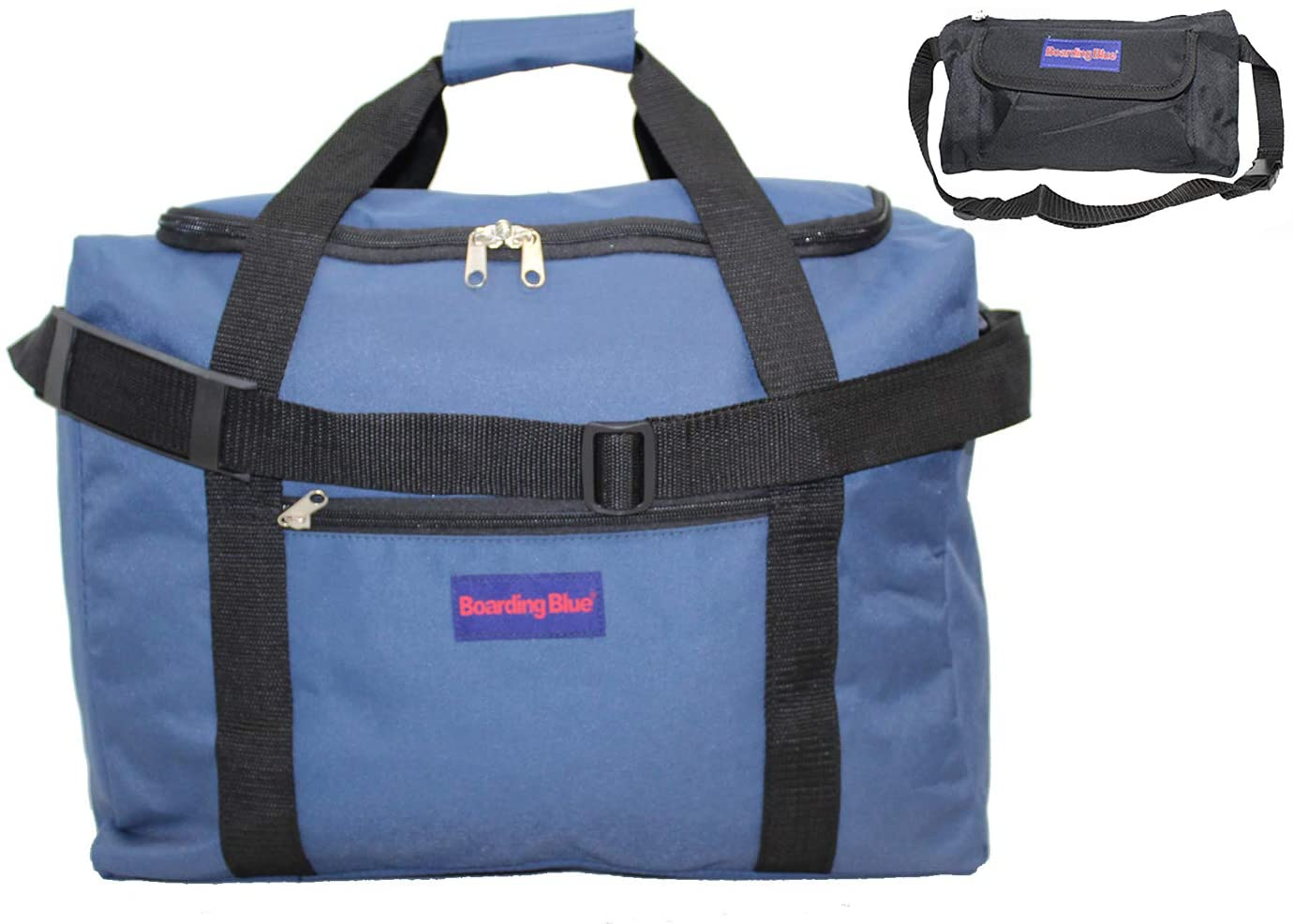18 Personal Item Under seat free carry on for Airlines of Spirit Frontier AA Bonus (navy)