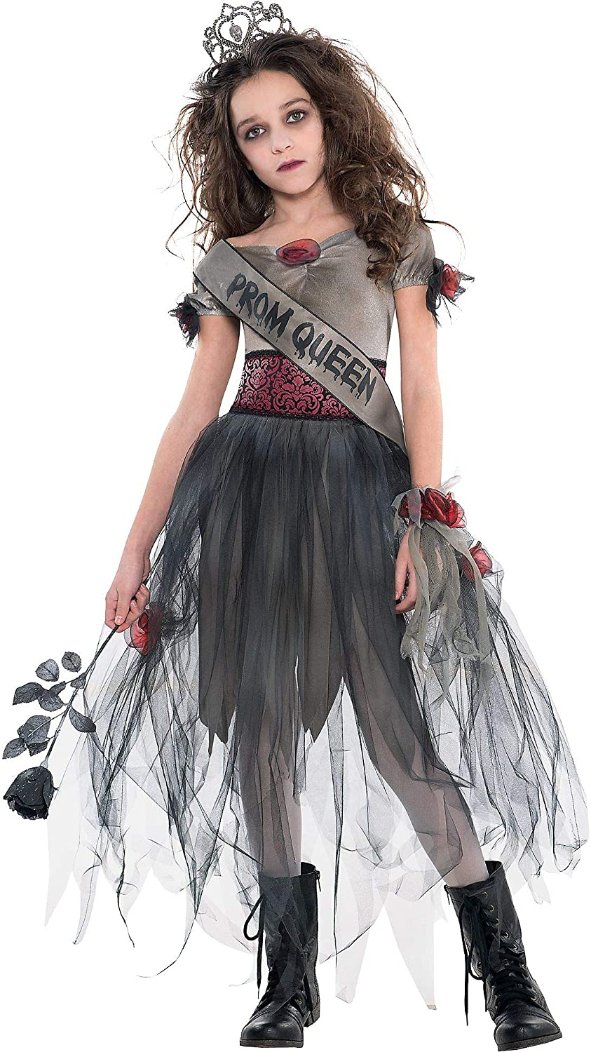 AMSCAN Prom Corpse Costume Halloween Costume for Girls, Extra Large, with Included Accessories