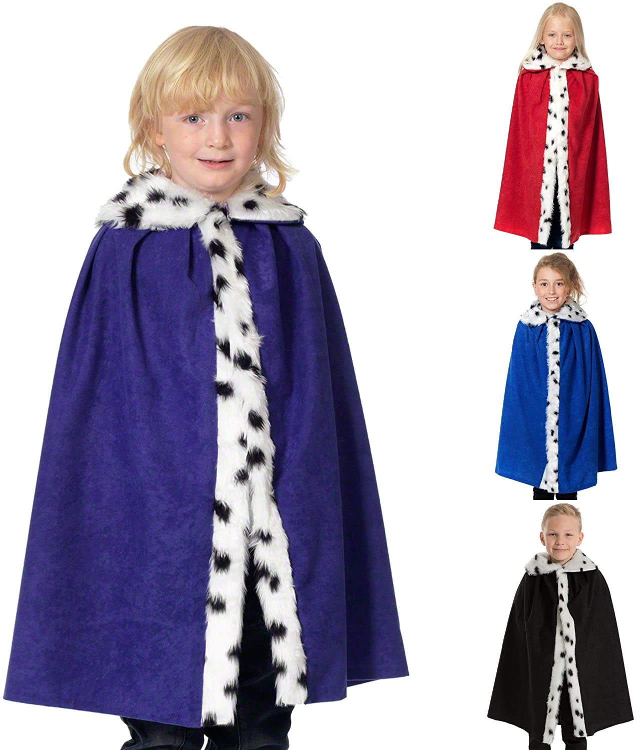 Purple King/Queen Cloak for Kids. One Size 3-8 Years.