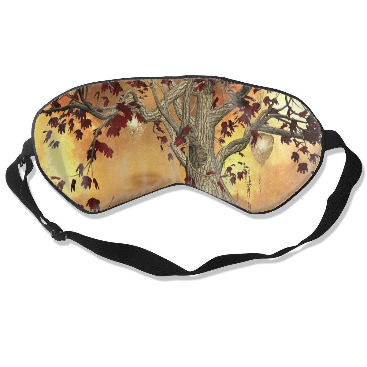 Custom Sleeping Mask Fantasy Tree Butterfly Glitter Adjustable Breathable Sleep Mask/Sleeping Eyes Mask/Sleep Eyes Mask/Eyeshade/Blindfold