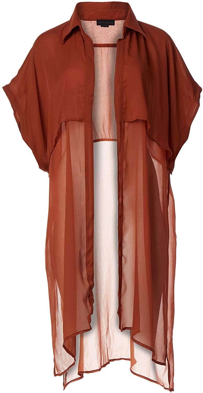 Steve Madden Women's Solid Trench Kimono