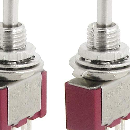 AMOMAZ 2 Pcs AC SPDT On/Off/On 3 Position Momentary Toggle Switch