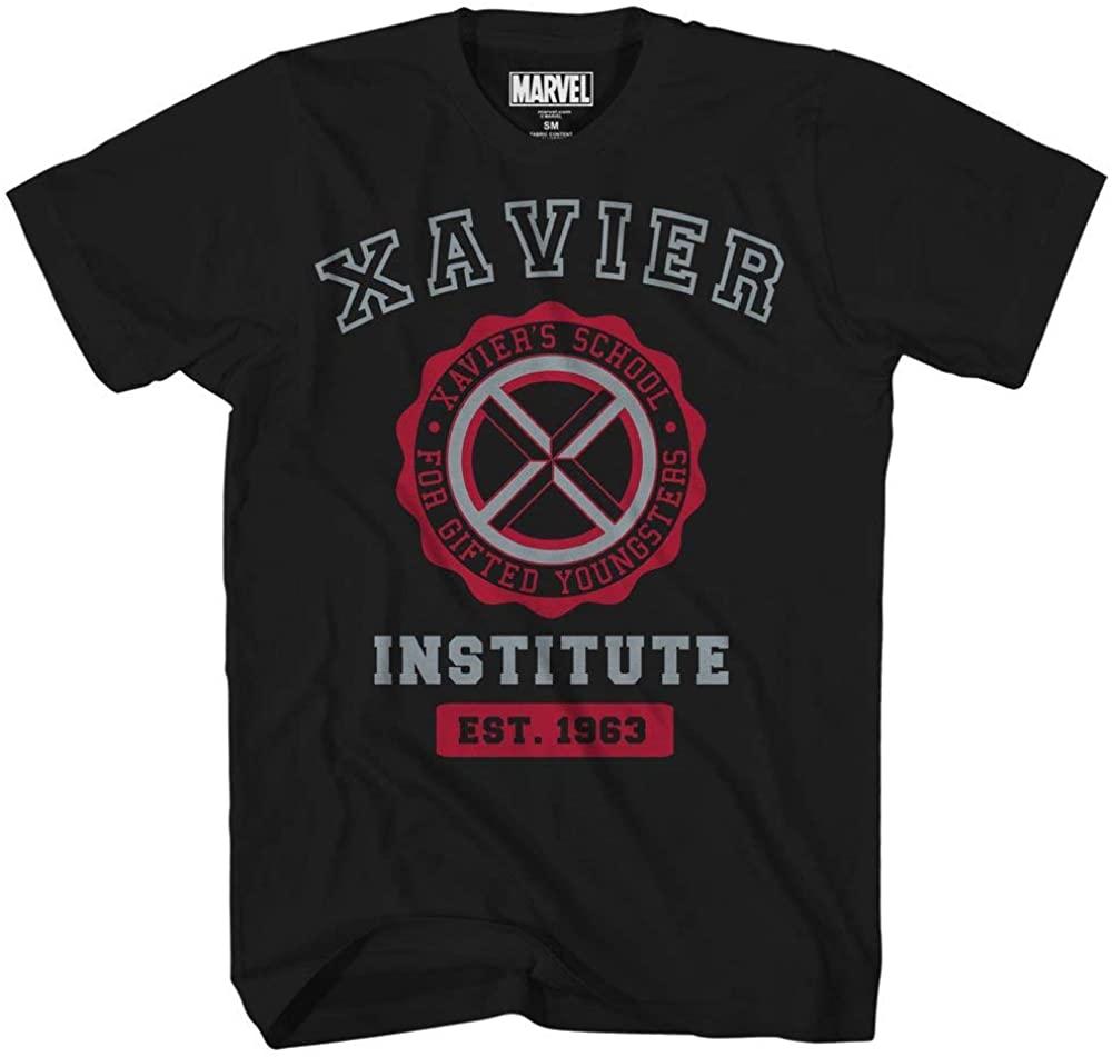 Marvel Avengers X-Men Professor Xavier Institute Logo Fantastic Four X-Force Adult Tee Graphic T-Shirt for Men Tshirt
