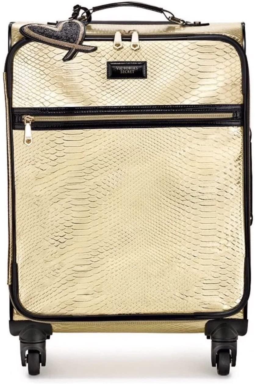 Victorias Secret LIMITED EDITION Travel Suitcase Wheelie Carry-On, Gold Python