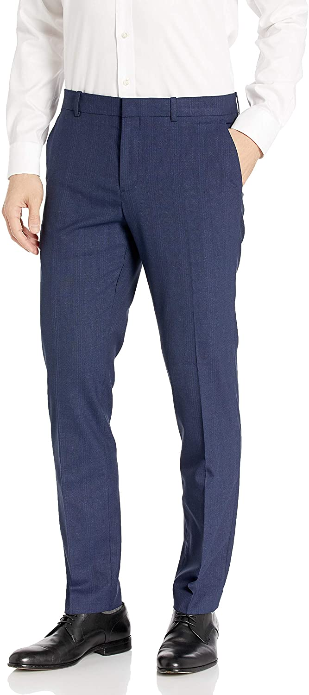 Perry Ellis Mens Portfolio Very Slim Subtle Plaid Dress Pant