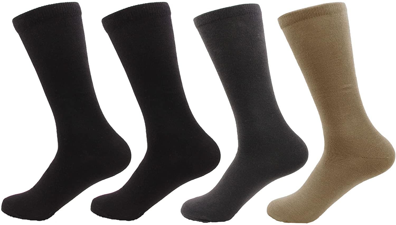BambooMN Bamboo Socks - Men's Rayon from Bamboo Fiber Moisture Wicking Antibacterial Classic Casual Dress Socks