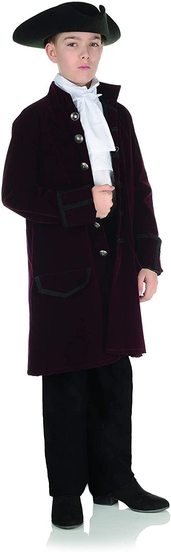 UNDERWRAPS Big Boy's Little Boy's Costume Versatile Frock Coat - Childrens Costume, Burgundy, Large
