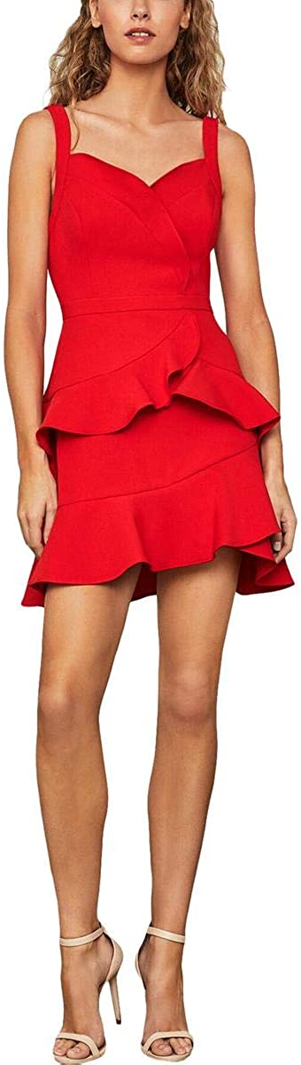 BCBGMAXAZRIA Women's Tiered Mini Dress