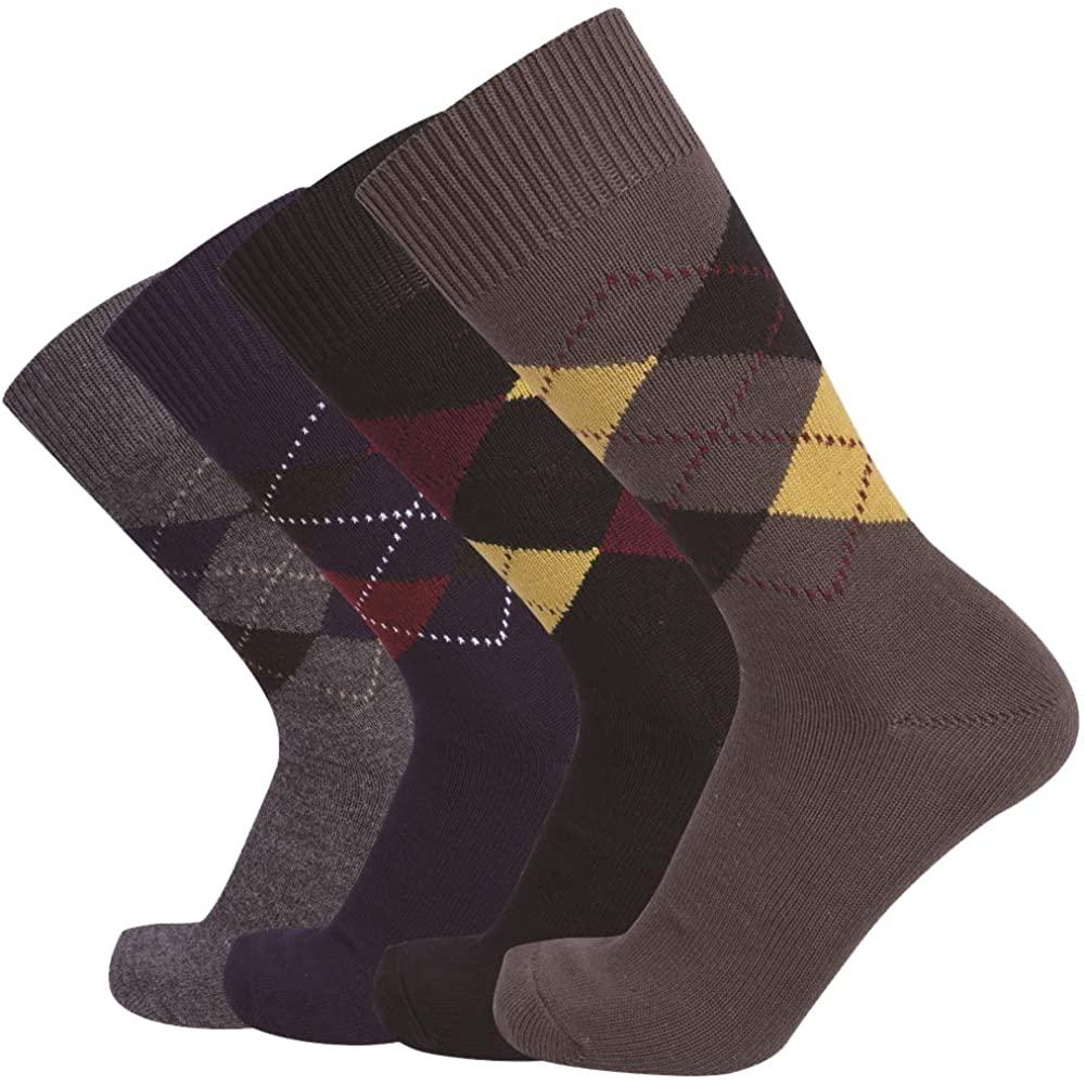 Enerwear 6P Pack Men's Outlast Hand Linking Cotton Dress Socks