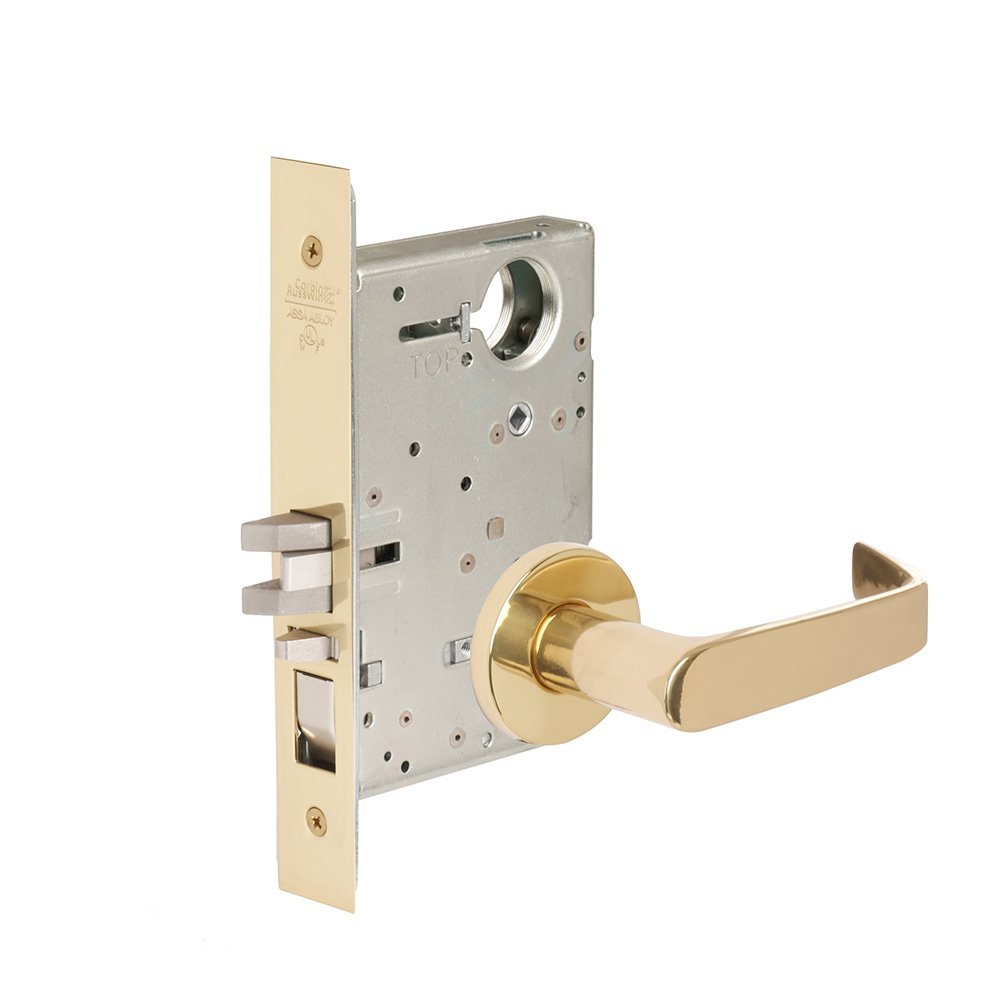 CORBINRUSSWIN ML2051-NSA-605-LC 605 Bright Polished Brass, Lever NSA Newport, Entrance/Entry/Office, Steel; Stainless Steel; Brass