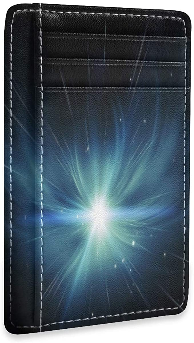Light Explosion In Space Rfid Credit Card Holders Wallet Womens Mens Gift Card Case Organizer