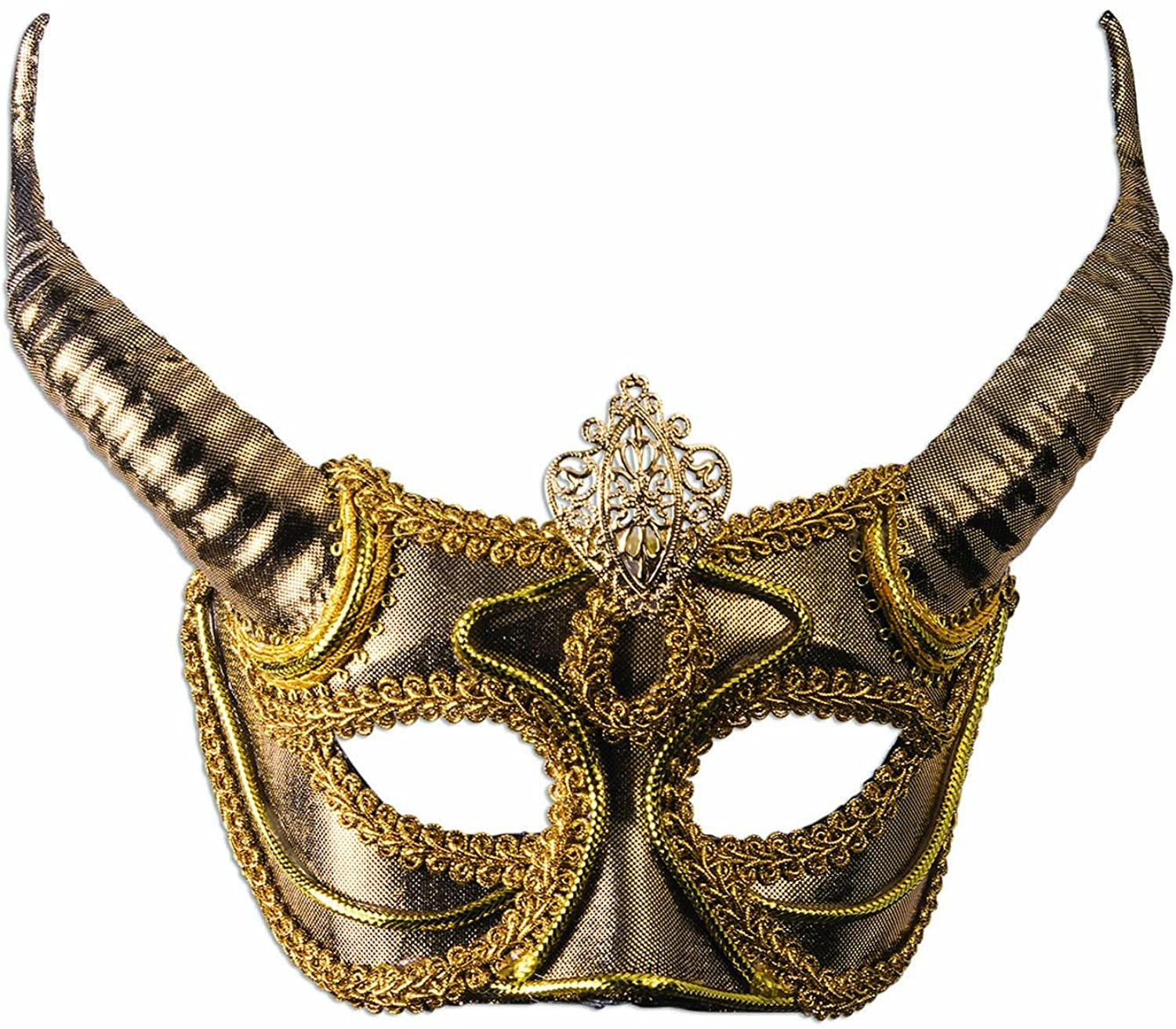 Forum Adult Faun Half Mask Horns Adult One Size