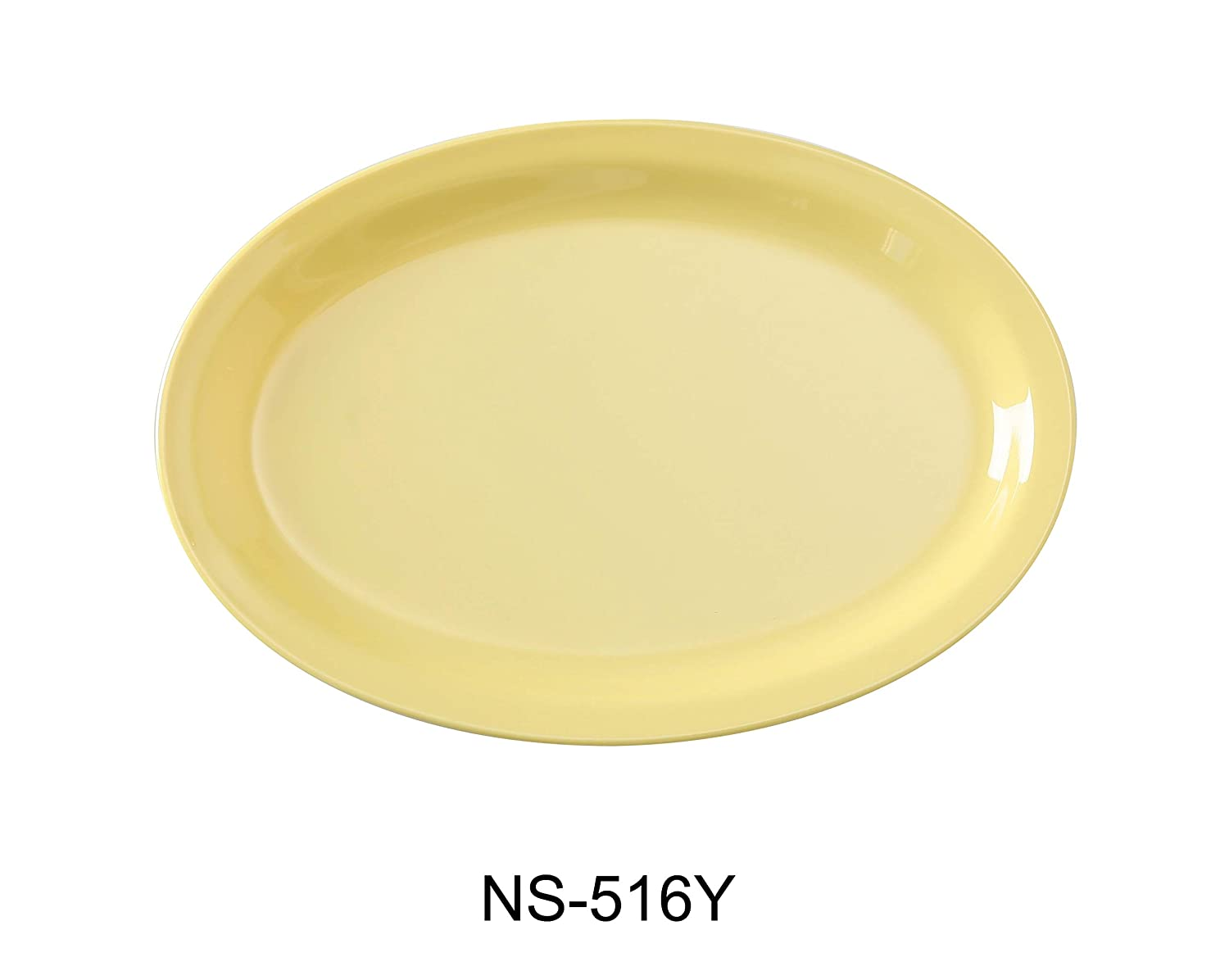 Yanco NS-516Y Nessico Oval Platter with Narrow Rim, 15.5