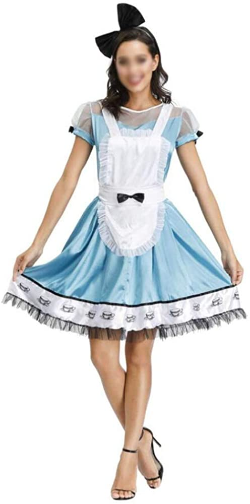 Ladies Halloween Fantasy Wonderland Maid, Pack Adult Beer Wear Maid Cosplay Stage Costume SE-ST