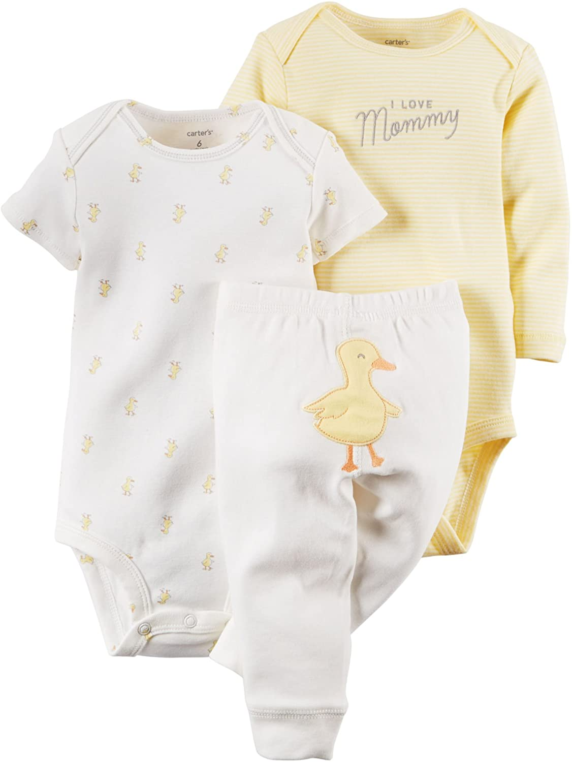Carter's Unisex Baby 3 Piece Take Me Away Set (Baby) - Duck - 12M