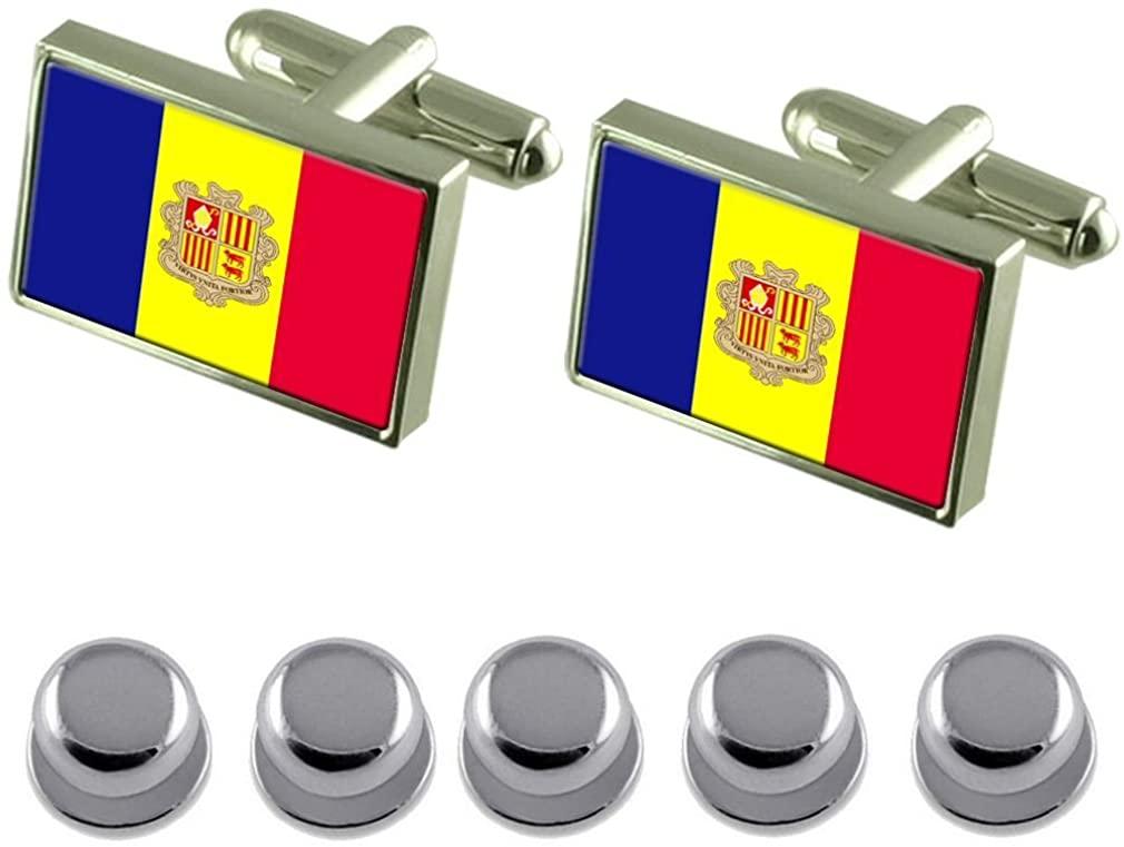Select Gifts Shirt Dress Studs Andorra Flag Cufflinks