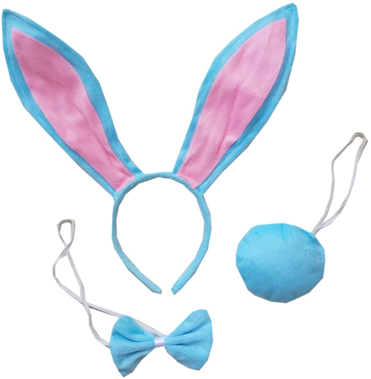 Kirei Sui Blue Bunny Headband Bowtie Tail 3pcs Costume