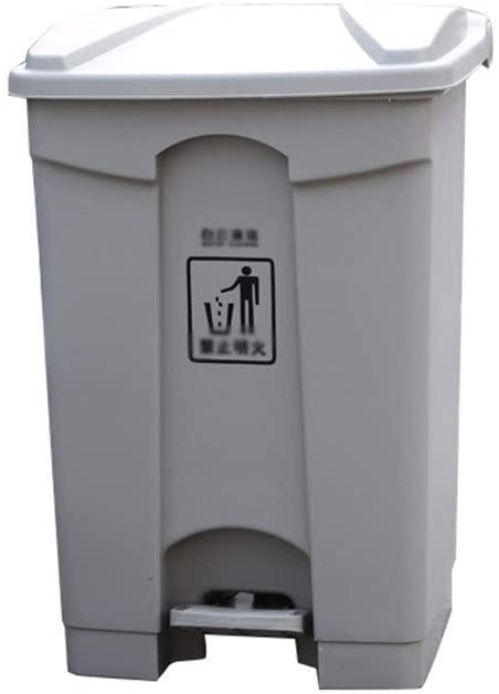 Trash Can for Kitchen Commercial Trash Can Trash Can Kitchen House Storage Unit is Storage Unit is Pedal Trash Can (Color: Beige Size: 45L)