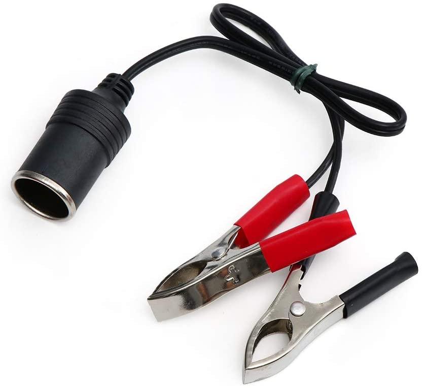 Davitu Cables, Adapters & Sockets - 1 Pcs 12V Cigarette Lighter Socket Car Battery Terminal Clip-on Cigarette Lighter Power Socket Adapter Car Accessories