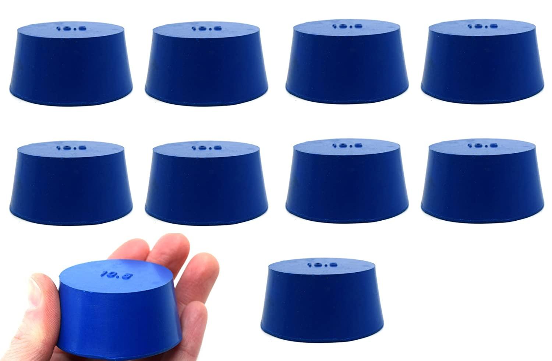 Neoprene Stopper ASTM Solid - Blue ASTM Size: #10.5-45mm Bottom, 53mm Top, 25mm Length - Pack of 10