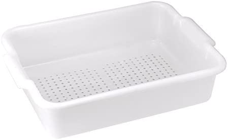 Bus Box, Perforated, White by Winco