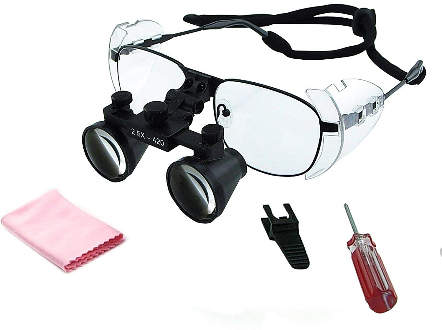 Aries Outlets 2.5X Magnification Dental Loupes Surgical Medical Binocular, 100mm Field of View