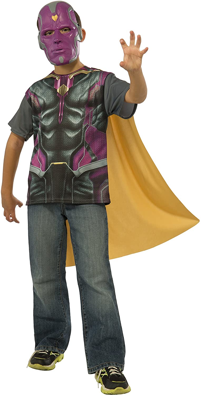 Rubie's Costume Avengers 2 Age of Ultron Child's Vision T-Shirt/Cape and Mask, Large