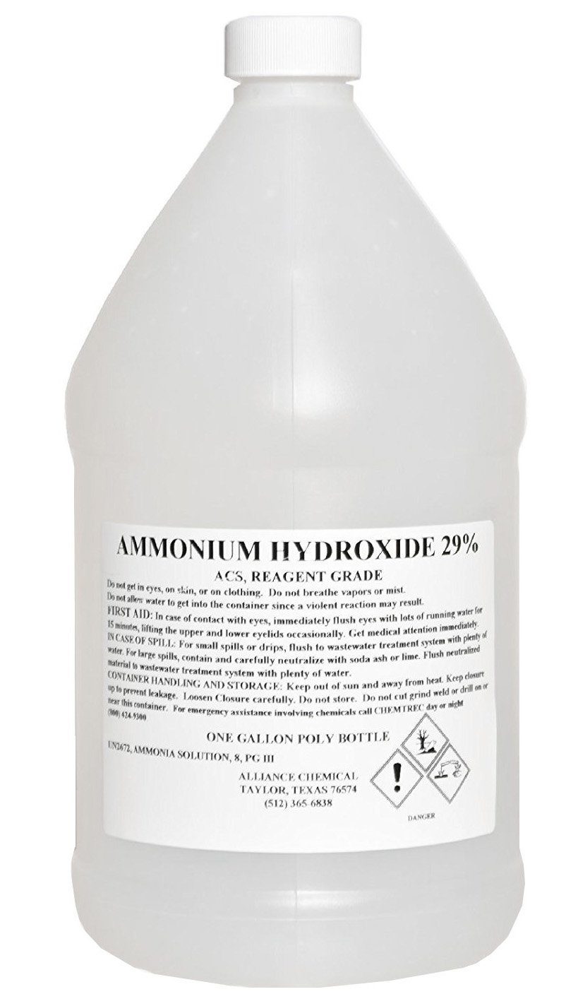 Alliance Chemical - Ammonium Hydroxide 29% - ACS, Reagent Grade - One Sealed Gallon Jug
